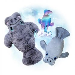 Manatee Stuffie Embroidery Design