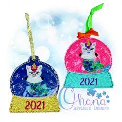 MerUnicorn Ornament Embroidery Design