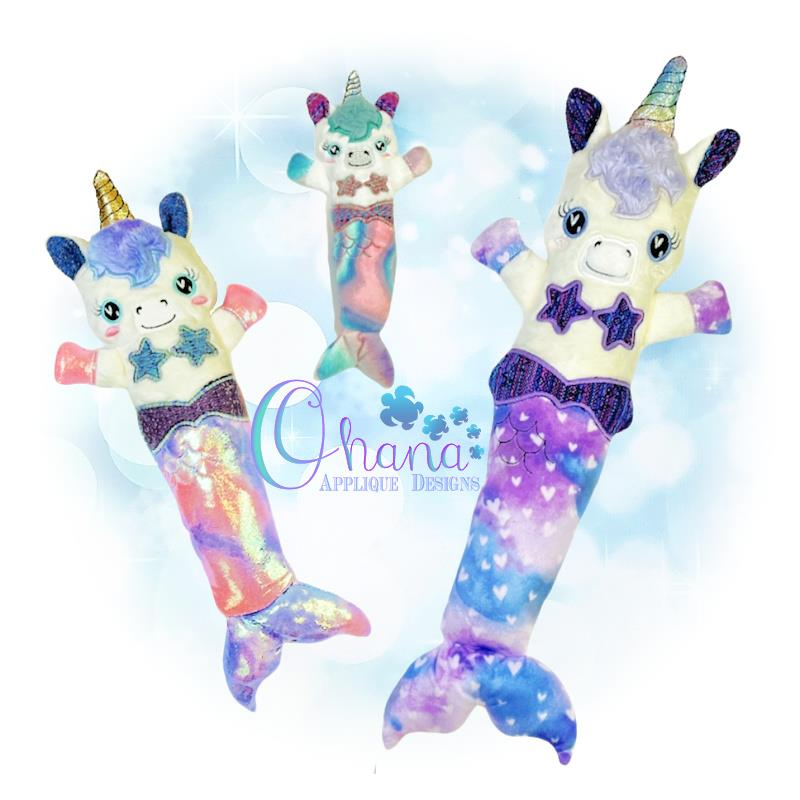 MerUnicorn Stuffie Embroidery Design