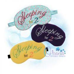Sleeping for 2 Sleep Mask