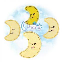 Sleeping Moon Feltie