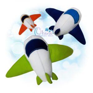 OAD Airplane Stuffie Multi KGR 800