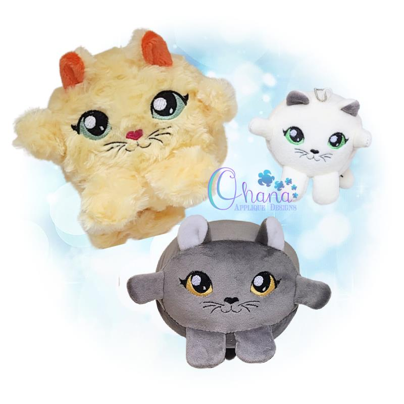 Ball Cat Stuffie Embroidery