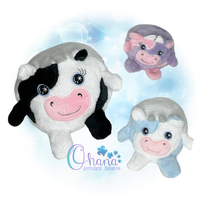 Ball Cow Stuffie Embroidery