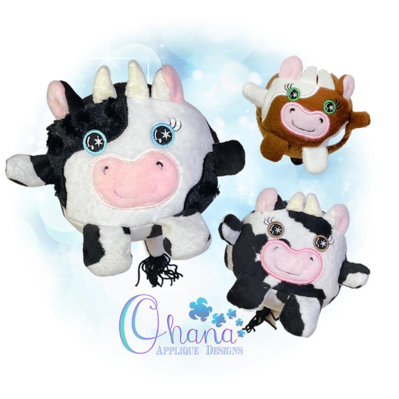 OAD Ball Cow Stuffie Multi RG 80072
