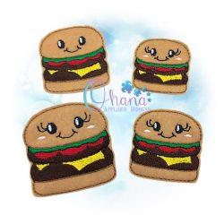 Burger Feltie Embroidery Design