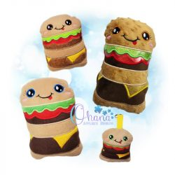 Kawaii Burger Stuffie Embroidery