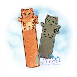 Cat Bookmark Embroidery Design