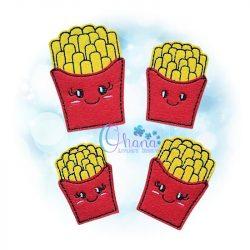 Fries Feltie Embroidery Design