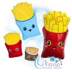 Kawaii Fries Stuffie Embroidery