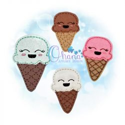 Ice Cream Feltie Embroidery
