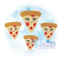 Kawaii Pizza Feltie Embroidery