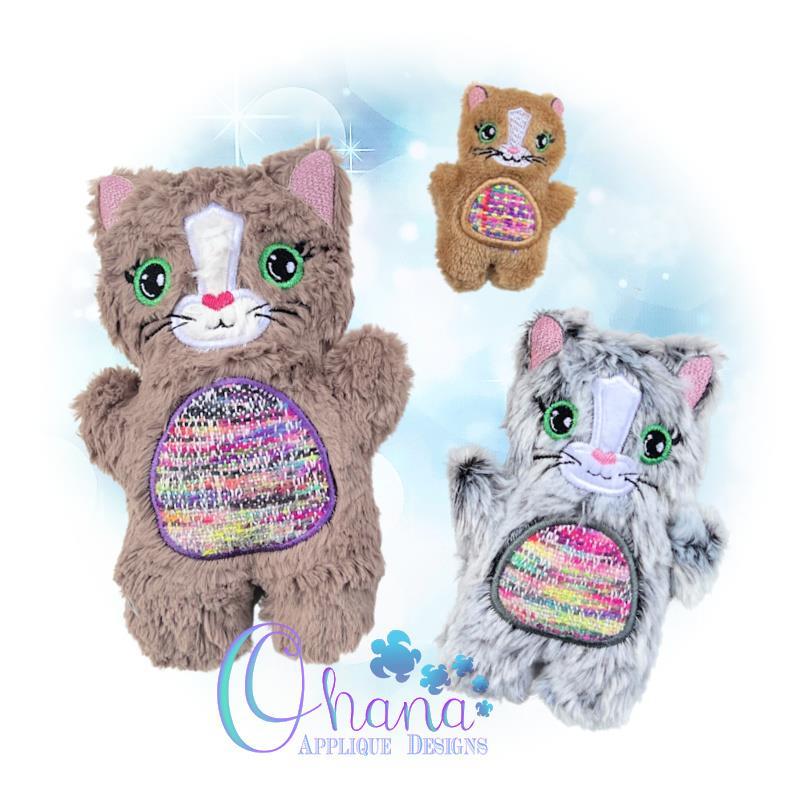 OAD QS Cat Stuffie Multi RG 80072
