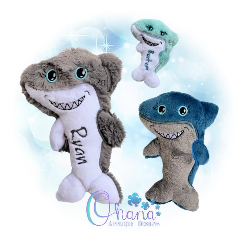 Shark Stuffie Embroidery Design