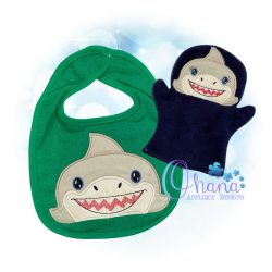 Shark Peeker Embroidery Design