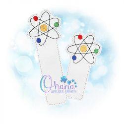 Atom Bookmark Embroidery Design