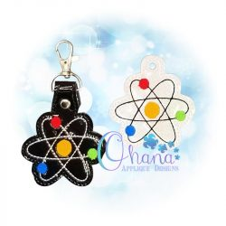 Atom Key Chain Embroidery