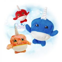 Ball Narwhal Stuffie Embroidery