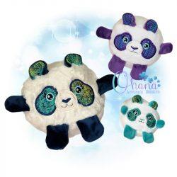 Ball Panda Stuffie Embroidery