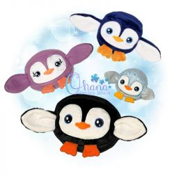 Ball Penguin Stuffie Embroidery