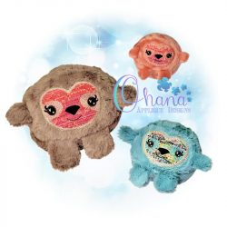 Ball Sloth Stuffie Embroidery