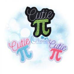 Cutie Pi Feltie Embroidery