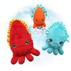 Cuttlefish Stuffie Embroidery Design