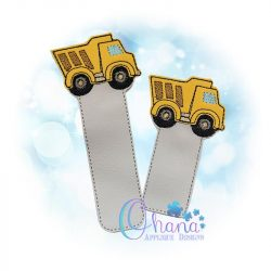 Dump Truck Bookmark Embroidery