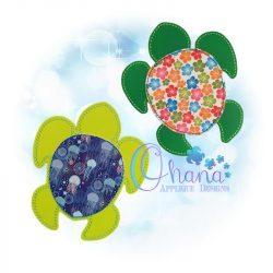 Honu Turtle Coaster Embroidery