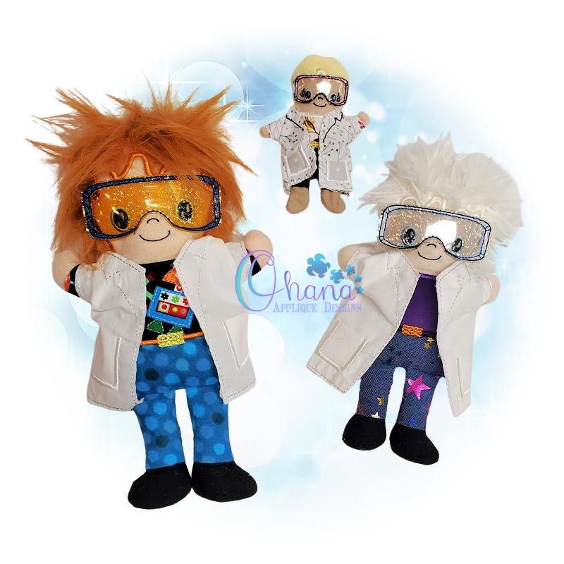 Mad Scientist Stuffie Embroidery