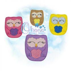 Owl Feltie Embroidery Design