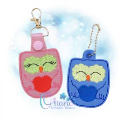 Owl Key Chain Embroidery