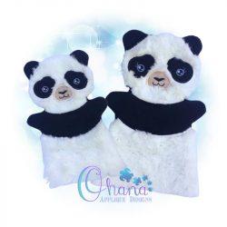 Panda Hand Puppet Embroidery