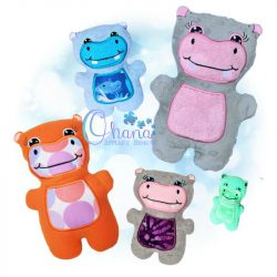 Henry Hippo Stuffie Embroidery