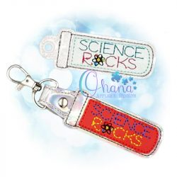 Science Rocks Key Chain