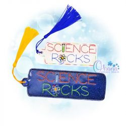 Science Rocks Bookmark Embroidery