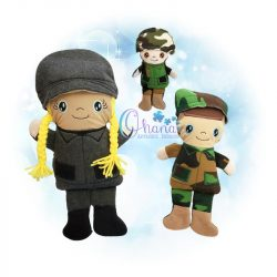 Army Soldier Stuffie Embroidery
