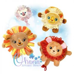 Ball Lion Stuffie Embroidery