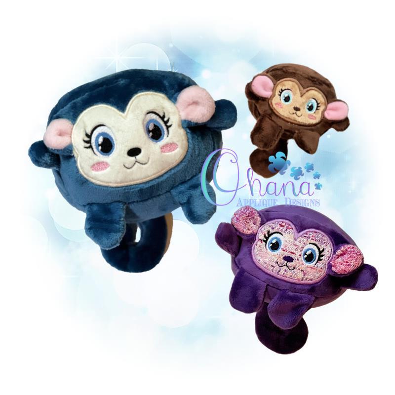 OAD Ball Monkey Stuffie Multi RG 80072