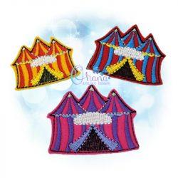 Tent Feltie Embroidery Design