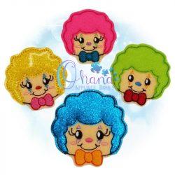 Clown Feltie Embroidery Design