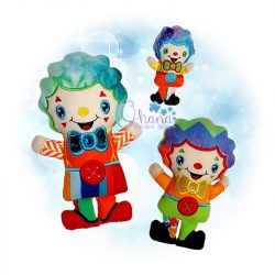 Clown Stuffie Embroidery Design