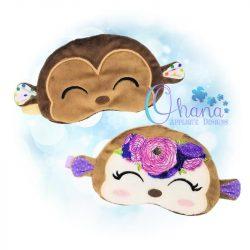 Floral Monkey Sleep Mask