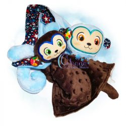 Monkey Lovey Embroidery Design