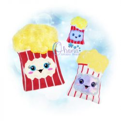 Popcorn Stuffie Embroidery Design