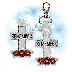 Remember Cross Key Chain