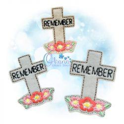 Remember Cross Feltie Embroidery
