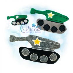 Tank Stuffie Embroidery Design