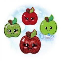 Apple Feltie Embroidery Design