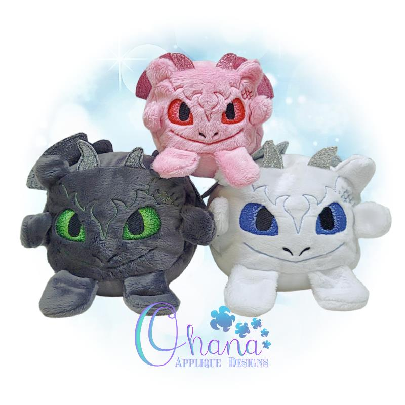 Ball Dragon Stuffie Embroidery